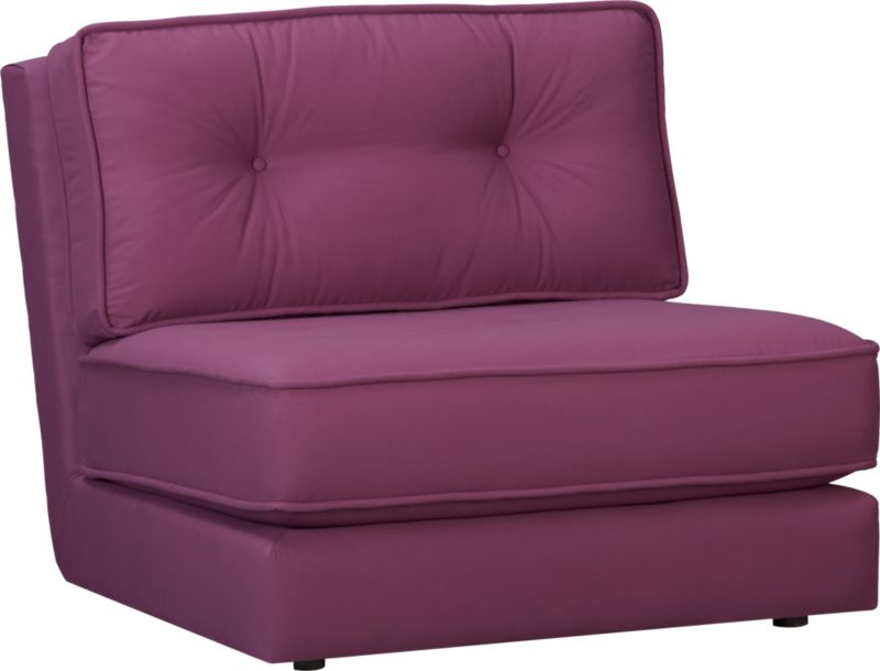 botao violet armless sectional chair