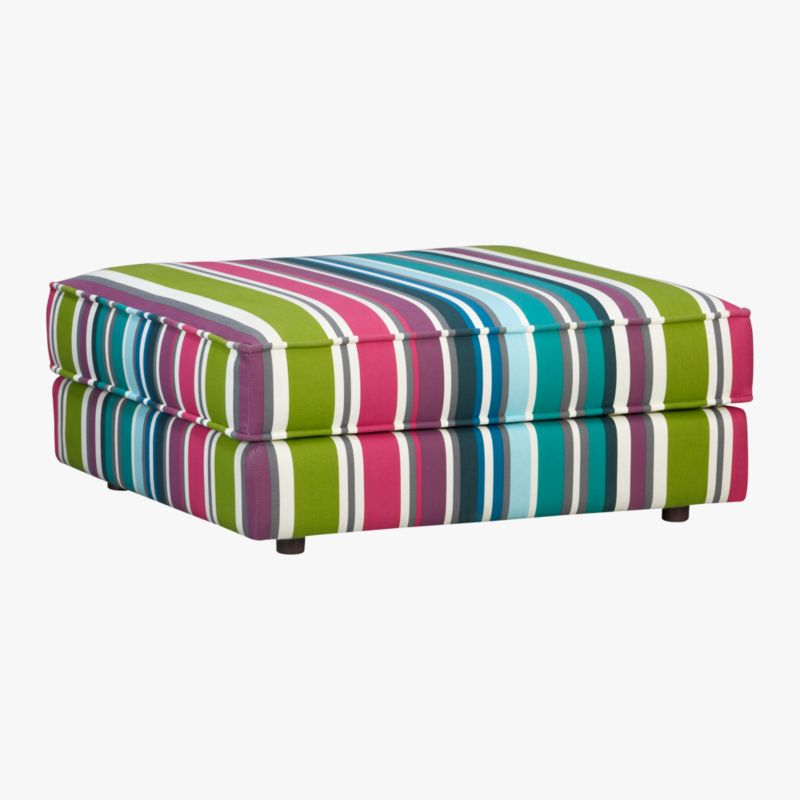 botao stripe sectional ottoman
