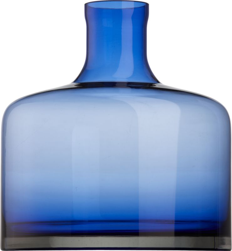 bottle blue vase