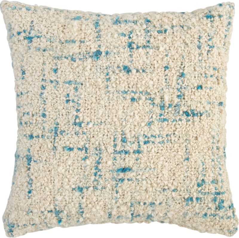 "bouclé swoon 20"" pillow with down-alternative insert"