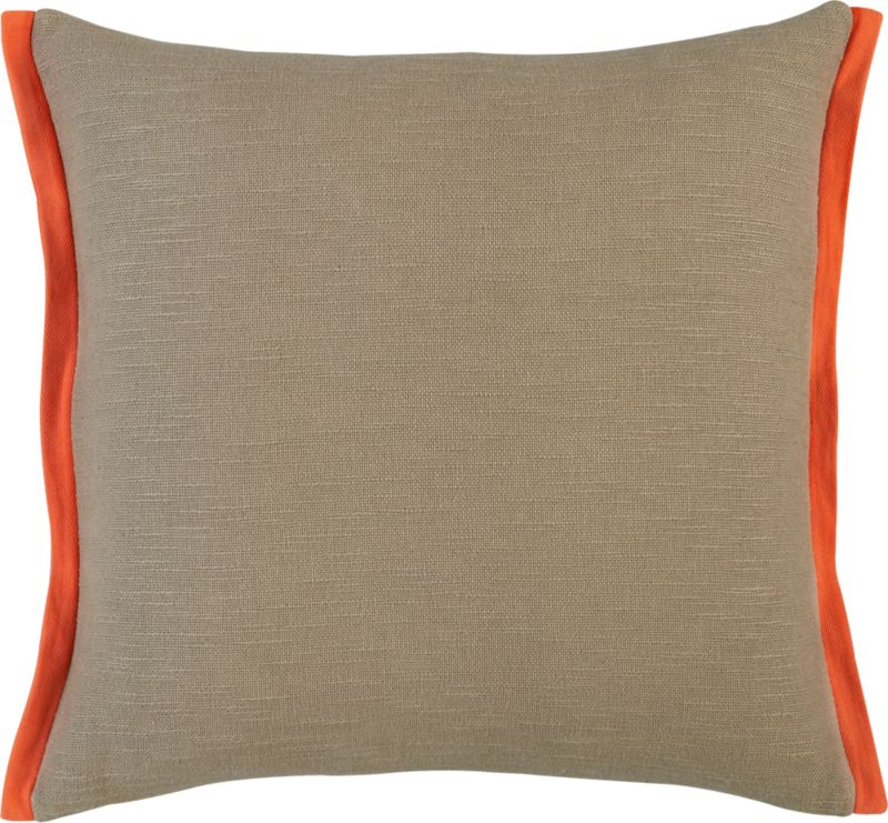 "boundary oat-orange 18"" pillow with feather-down insert"