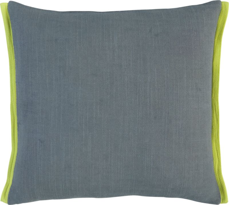 "boundary grey-chartreuse 18"" pillow with down-alternative insert"