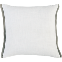 boundary white-natural 18&quot; pillow