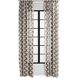 brady taupe curtain panel