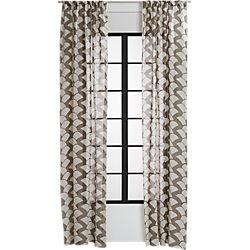 brady taupe curtain panel