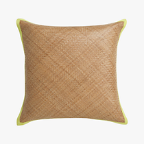 brasil 20&quot; pillow with chartreuse