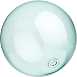 bubble sphere aqua
