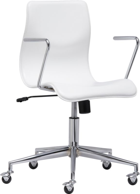 BubbleWhiteOfficeChair3QS10