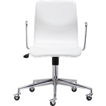 bubble white leather office chair