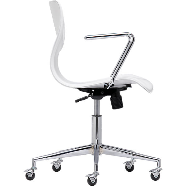 BubbleWhiteOfficeChairSdS10