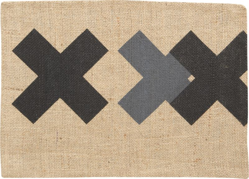 burlap black-grey placemat