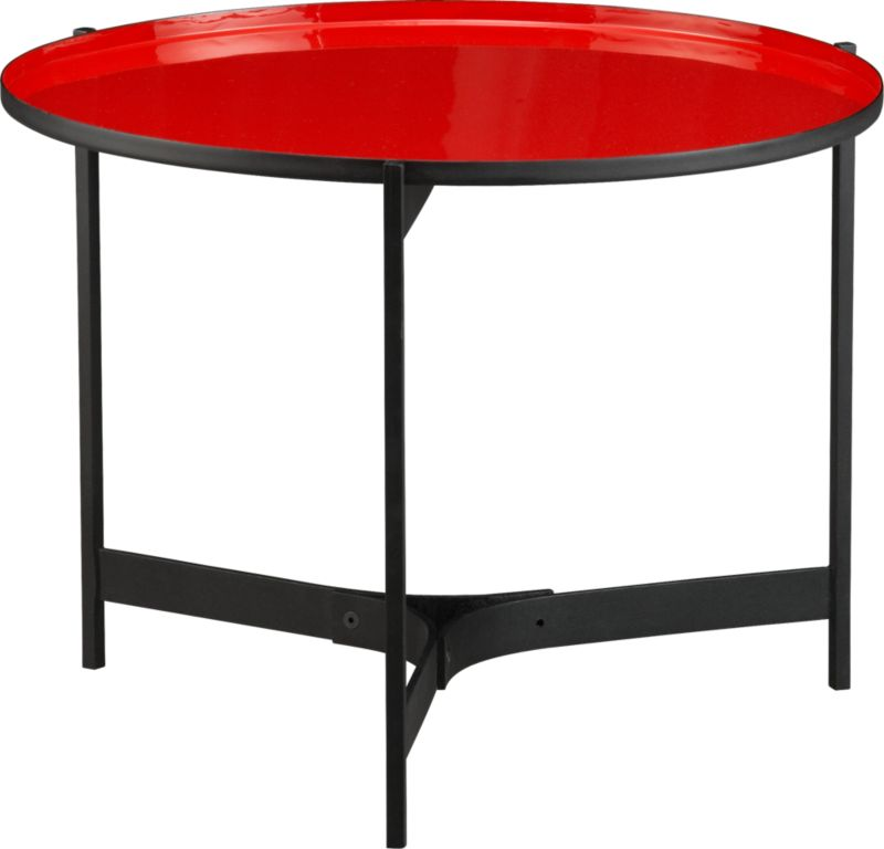 butler red side table