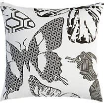 butterfly print 20&quot; pillow