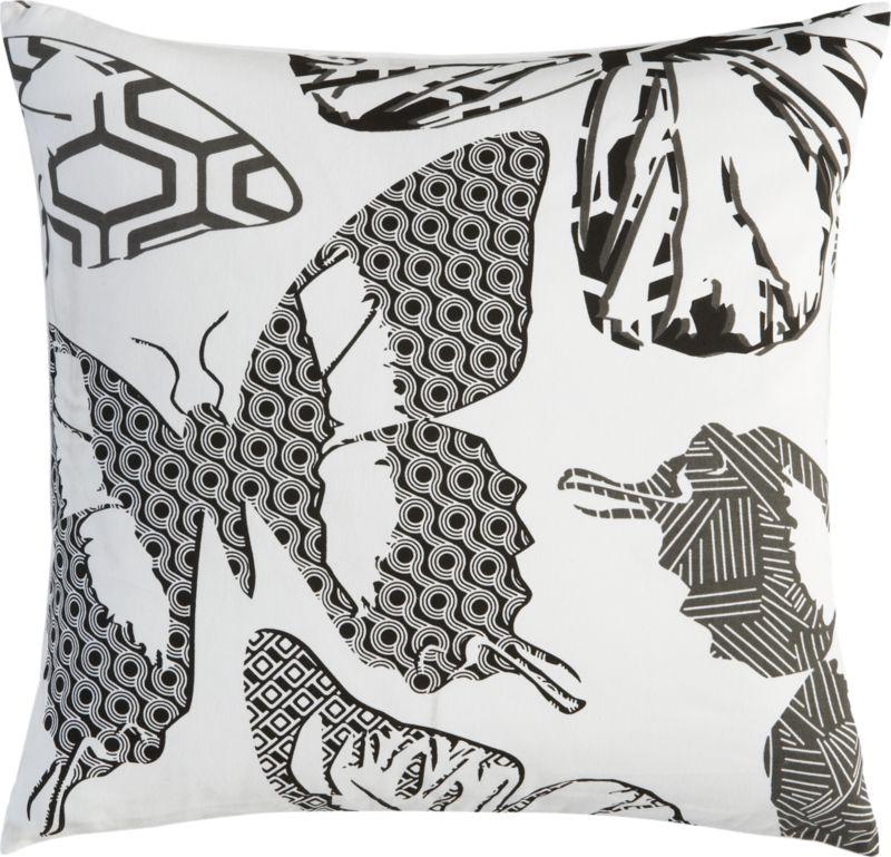 """butterfly print 20"""" pillow"""