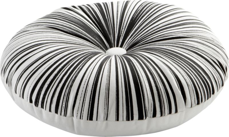 "button-up black-white 16"" pillow"