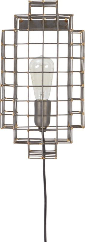 Wall Sconce Cage Lighting : cage wall sconce CB2