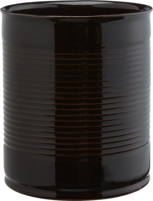 "<span class=""copyHeader"">ripple effect.</span> Pot an urban garden in tactile terracotta. Handmade ridged cylinder is dip-glazed hi-gloss black, revealing hints of clay beneath. Grows green indoors or out.<br /><br /><NEWTAG/><ul><li>Handmade</li><li>Terracotta</li><li>Hi-gloss black dip-glaze</li><li>Indoor/outdoor use</li><li>Wipe clean with soft, damp cloth</li></ul>"