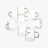 set of 8 cantina glass mugs
