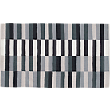 carbon stripe rug 3'x5'