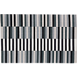 carbon stripe rug 6'x9'