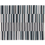 carbon stripe rug 8'x10'