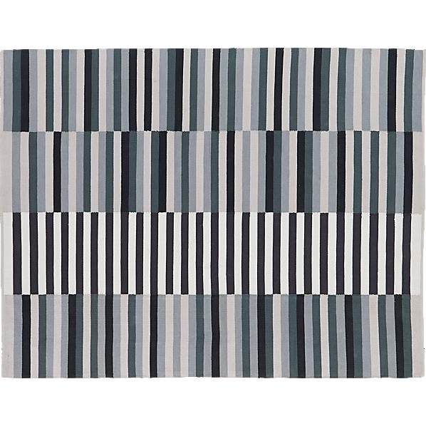 Banded Color Stripe Rug 5 X8 Cb2