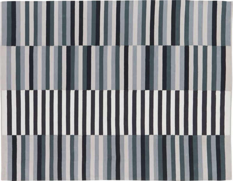 Banded Color Stripe Rug 5 X8 Cb2