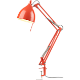 carpenter bright orange lamp