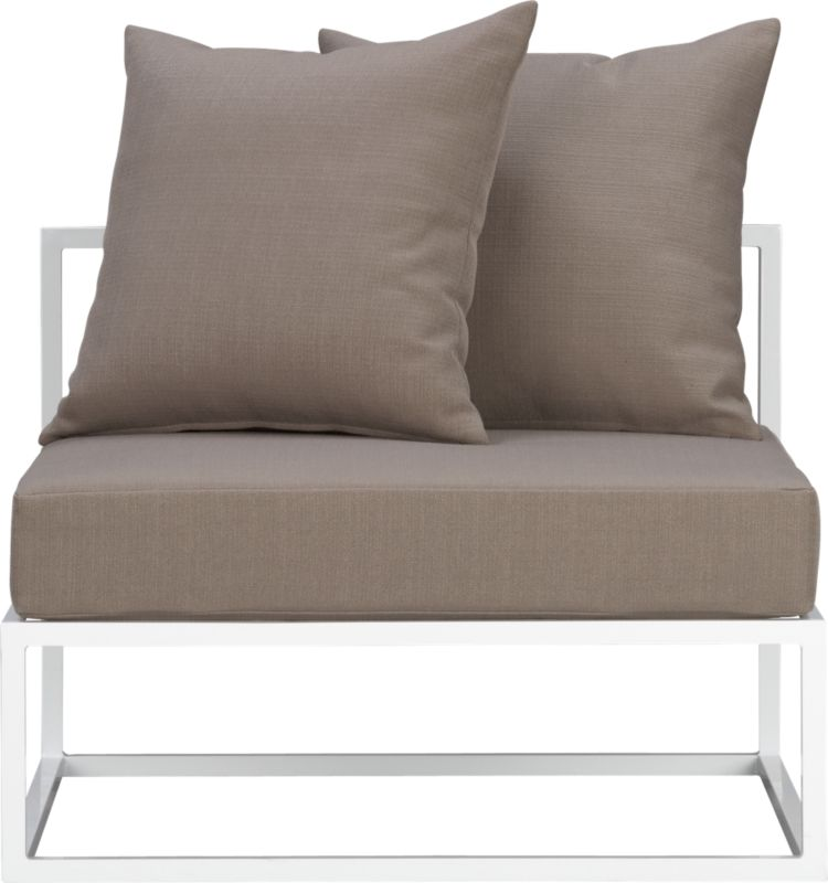 islita armless chair cover in outdoor furniture | CB2