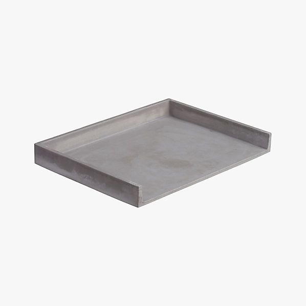 cement letter tray cb2 With cement letter tray