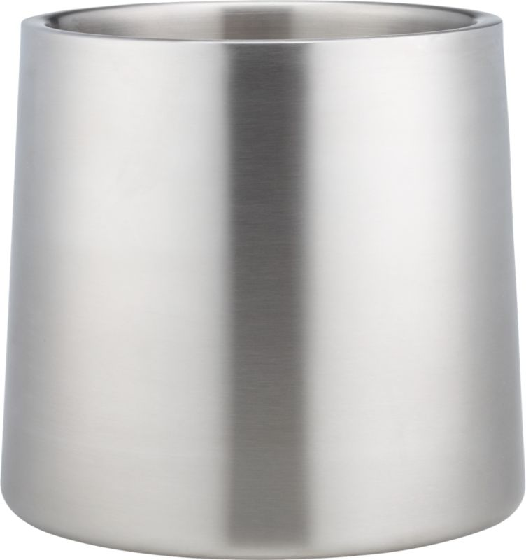 brushed stainless steel champagne-wine bucket