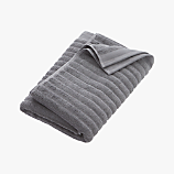 channel grey cotton bath towel