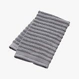 channel grey cotton hand towel