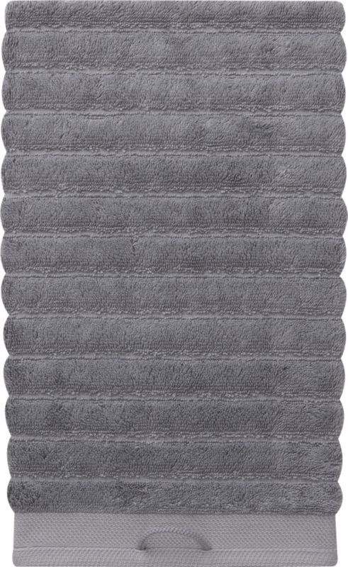 rayon bamboo channel grey hand towel