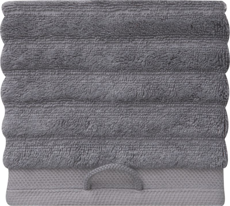 rayon bamboo channel grey washcloth