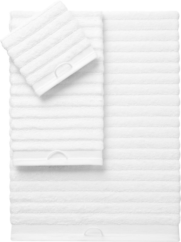rayon bamboo channel white bath towels