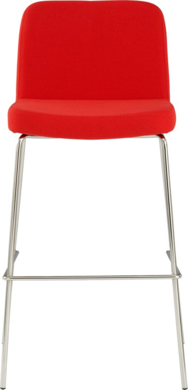 Charlie Red 30 Quot Bar Stool Red Cb2