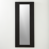 "charred 20""x48"" wall mirror"