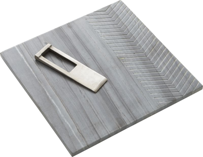 2-piece chevron grey marble and bert gift set