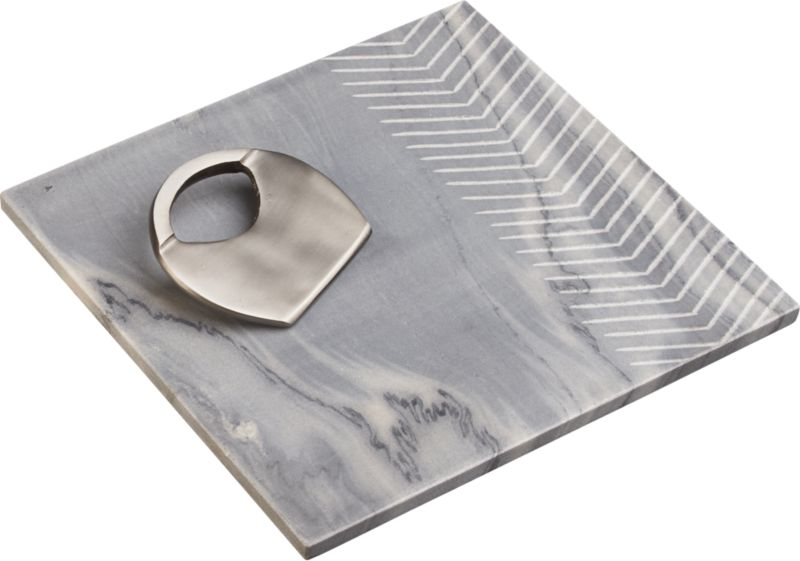 2-piece chevron grey marble and ernie gift set