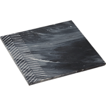 chevron grey marble server