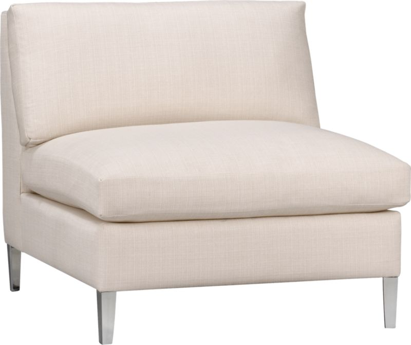 cielo ivory armless chair