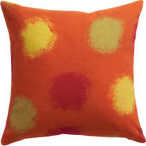 "circlet orange 20"" pillow"