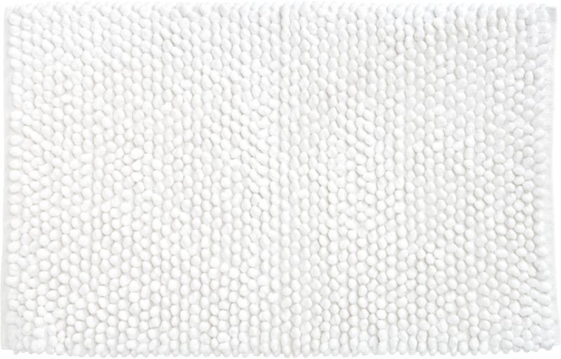 cirrus white bath rug