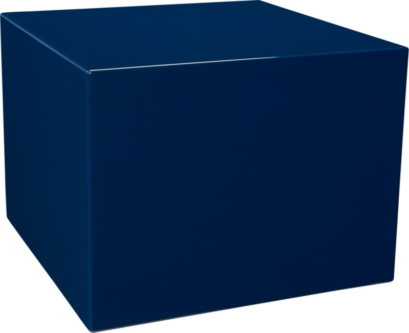 city slicker navy side table