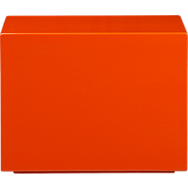 city slicker orange side table