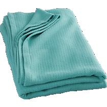 classic aqua blanket