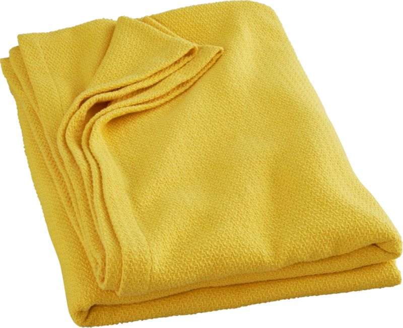 classic yellow full/queen blanket