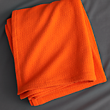 classic orange blanket