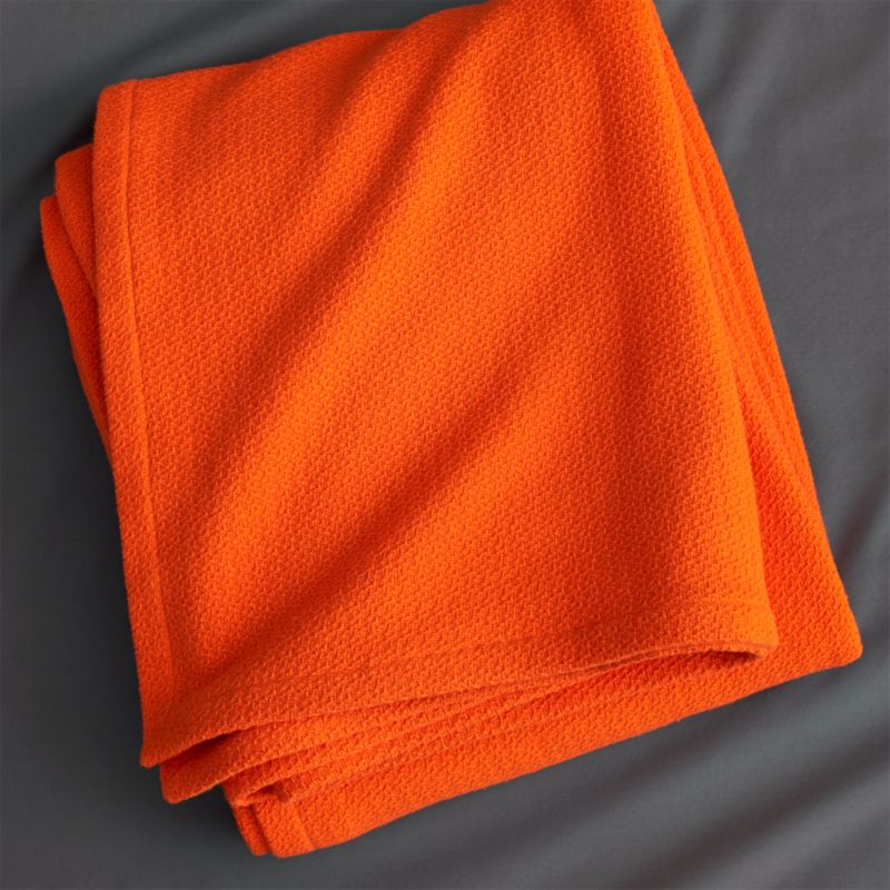 classic orange full/queen blanket